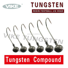 Wholesale unskirted tungsten rein football fishing jig