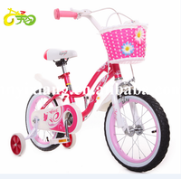 16 inch lovely style girls children bike pink color children road bicycle with back carrier city bike toyts for girls