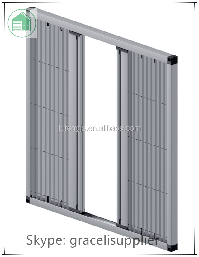 Door fly screens / Plisse polyester insect screen door with aluminum alloy frame