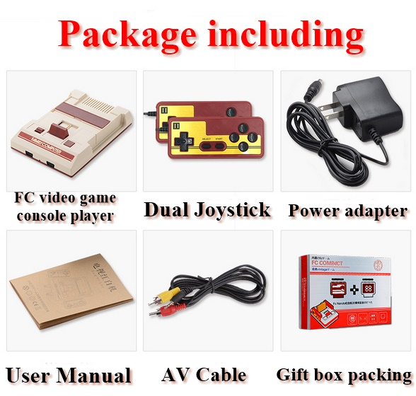 Nostalgic FC Video Game Console Family Computer Electronic game Machine for kids