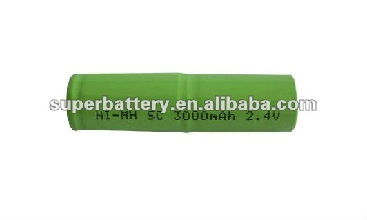 2.4V 3000mAh Ni-MH SC rechargeable power tool battery pack