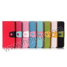 China Factory Dual-color Wallet For LG G3 Case, Flip Phone Case for LG G3 Cover
