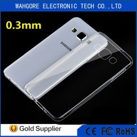 bright 0.3mm Ultrathin case for samsung GALAXY GRAND 2 tpu case blue/black/clean/pink