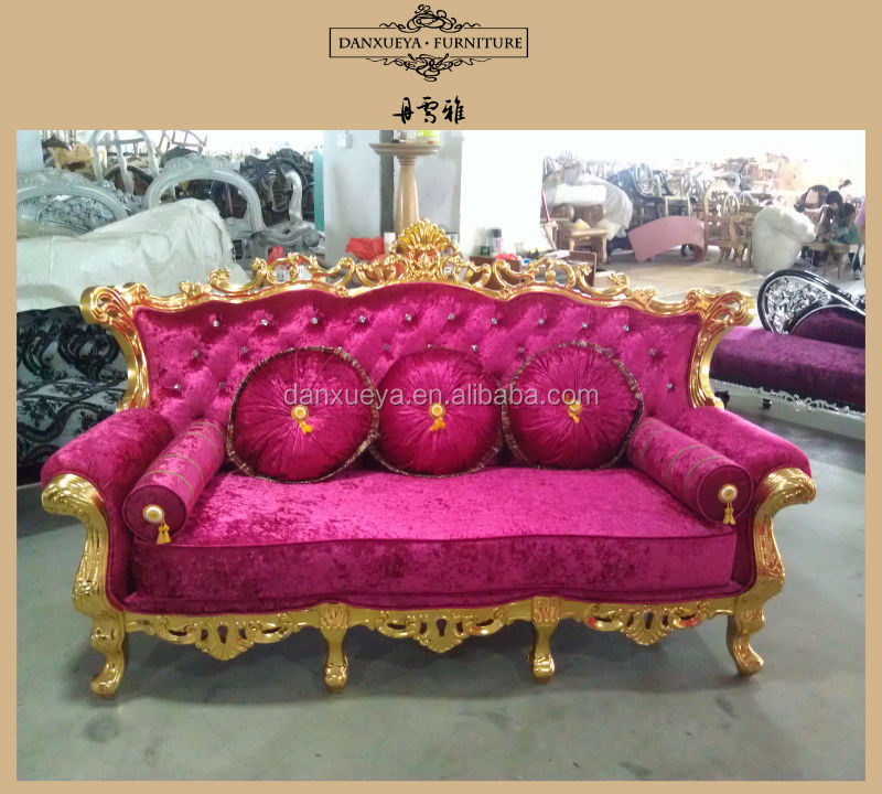 Classic living room sofas gold color large seater sofa 831#, View 3 ...