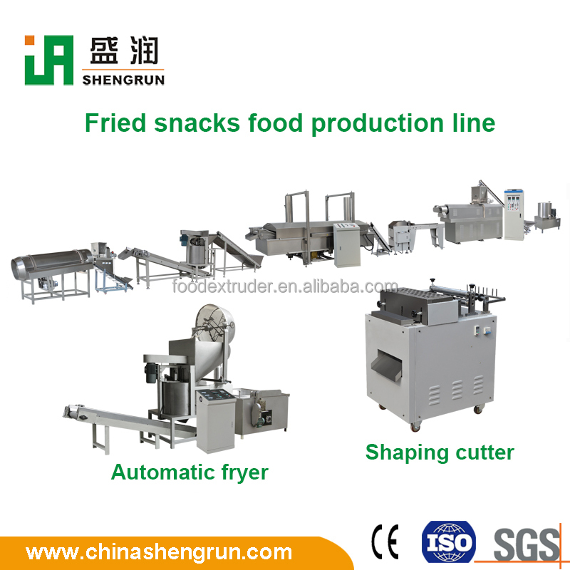 Extruded fried snacks food making machine