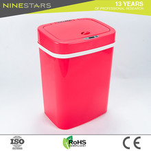 Manufacture sale wholesale 12 litre smart red garbage cans kitchen