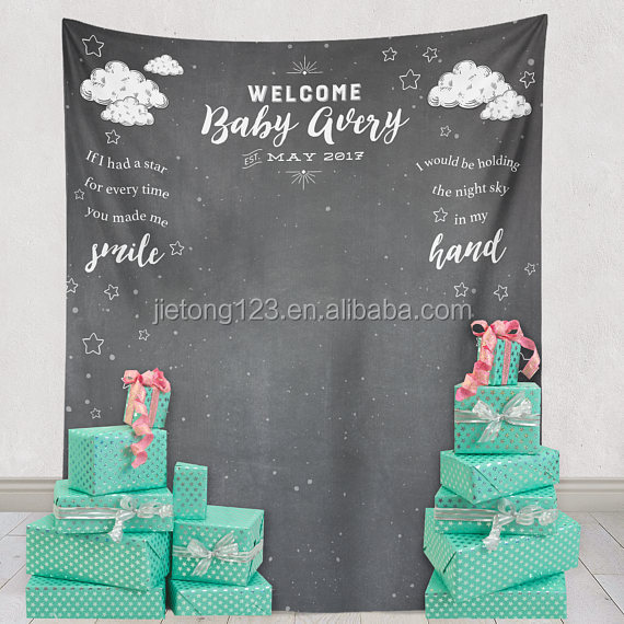 Baby Shower Backdrop Decor New Baby Party Decorations Shower Curtain