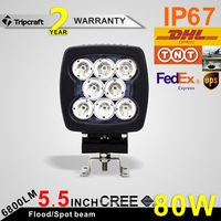 Wholesale factory direct Offroad LED Driving Work Lights 4X4 Accessories 80W LED Offroad Light