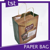 Brown Kraft Take Away Fast Food Paper Bag