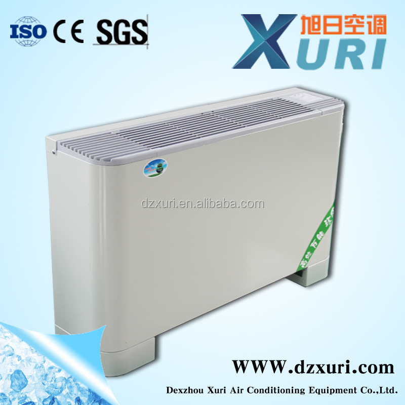 FP-102LMS vertical floor exposed up-outle fan coil units European Standard Type Decorated Vertical Fan Coil Unit FCU