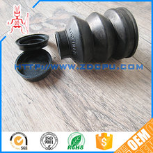 Custom molded competitive price threaded rubber bellows