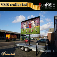 Sunrise 2015 hot mobile solar trailer+p10 outdoor dip led display screen