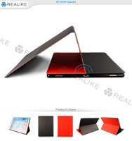 12.9 inch pu leather tablet pc case cover for apple ipad pro, smart flip cover for ipad