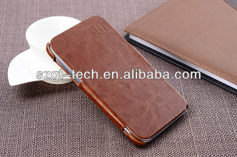 Flip leather case for Samsung Note 2 N7100 leather case cover