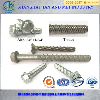 Class 10.9 cutting point M12 head concrete screw