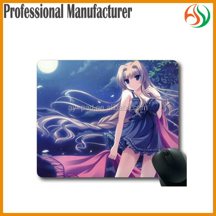 AY Lovely Japanese Girls And Animals Sexy Open Sex Photo Rubber Computer Mat, Sexy Anime Girl Rectangle Mouse Pad