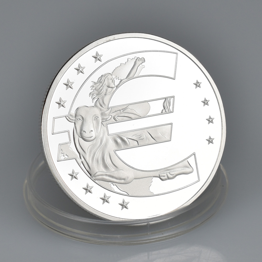Eurozone CommemorativeTwelve Countries Silver Gold 40mm Zone Euro Challenge Coins