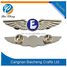2016 Wholesale new custom pilot wing badge for uniform