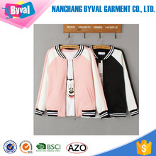 Wholesale Women Plain Striped Zip Up Hoodies