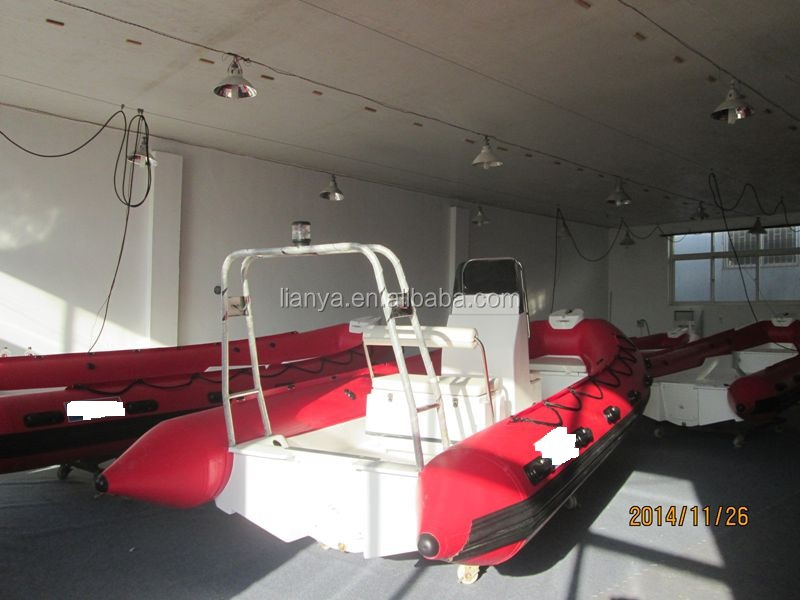 Liya unsinkable rigid bottom boat rescue boat with engine