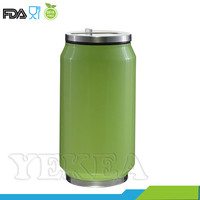 350 ml double wall soda can shaped stainless steel insulation system vacuum travel tumbler thermo mug