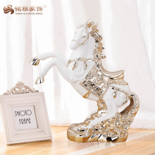 High quality home decoration resin animal figurine small white horse statue for sale