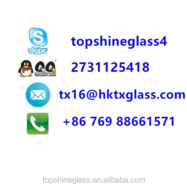 3-12mm acid etched glass