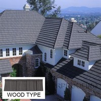 Hot selling Wood roof tile,stone coated metal roof tile with high quality