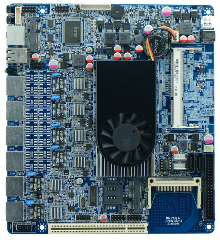 ATOM D525 dual-core 6 Gigabit Ethernet board ROS motherboard