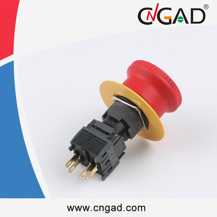 GA6-16HY-11Z CNGAD 16mm Emergency Push lock turn reset push button switch