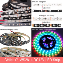 DC12V LED Strip Light WS2811 <strong>RGB</strong> SMD5050 5m*30LED /m IP30 150LED Flexiable Non-Waterproof Addressable LED Pixel Strip