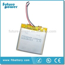 Good Quality 3.7v 1050mah Rechargeable Lithium ion Battery for Mobile Phone