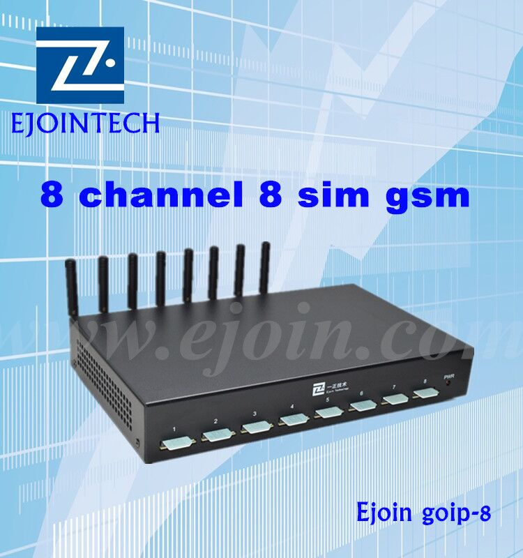 ejoin GSM 8 Port Modem With Wavecom Module Support For Mobile Recharge IMEI Changeable support vpn