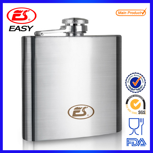 6oz ECO BPA free Wholesale 18/8 304 stainless steel reusable mini wine hip flask