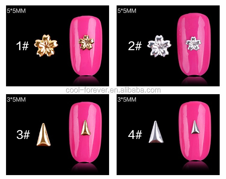 Metal golden and silver nail alloy for nail decorator