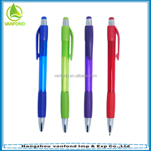 Promotional plastic logo liquid free ink roller pen