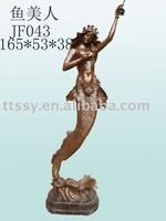 Cast bronze the mermaid statue