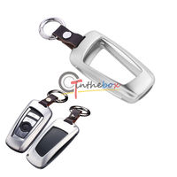 Silver Aluminum Remote Smart Key Fob Holder Cover For BMW 1 3 4 5 6 7 X1 X3 Series