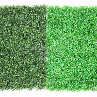 Plastic Green Artificial Boxwood Panel Milan