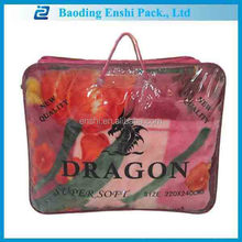 2014 hot sales customized winner pvc polybag for double size blanket