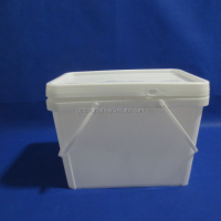 Double Handles 5 Gallons Rectangular Buckets Plastic Mop Buckets