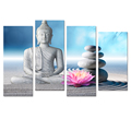 Buddha Painting Canvas Art Prints Home Wall Decoration Stone Zen Chinese Joss Canvas Prints Ready to Hang