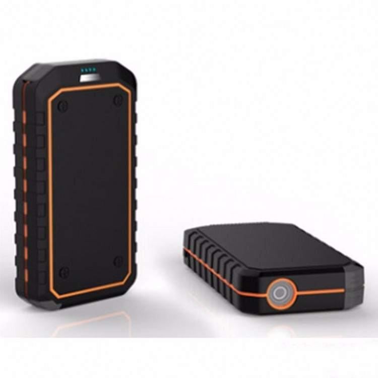 large capacity car jump starter quick charge 12v power bank with sos signal light and alloy plastic structure