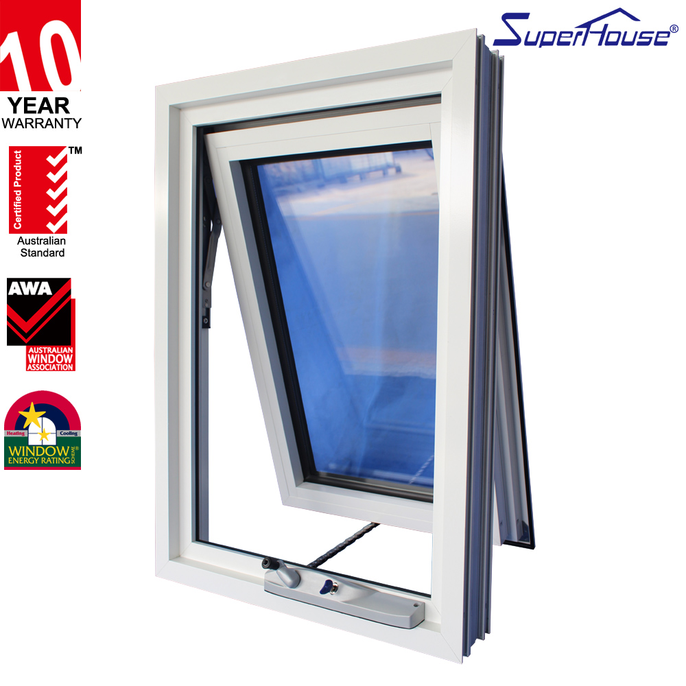 Australia standard latest window designs aluminum extrusion profile awning windows for home