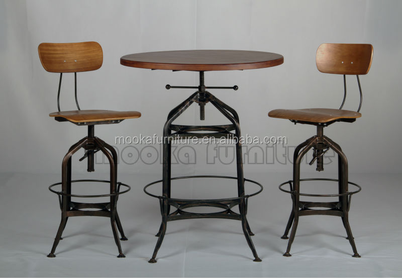 Vintage Industrial Bar Stool Replica Toledo Adjustable