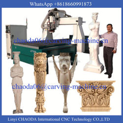 2016 china new best price life-size foam wood sculpture statue 5 axis 4d cnc router, cheap 4d cnc router