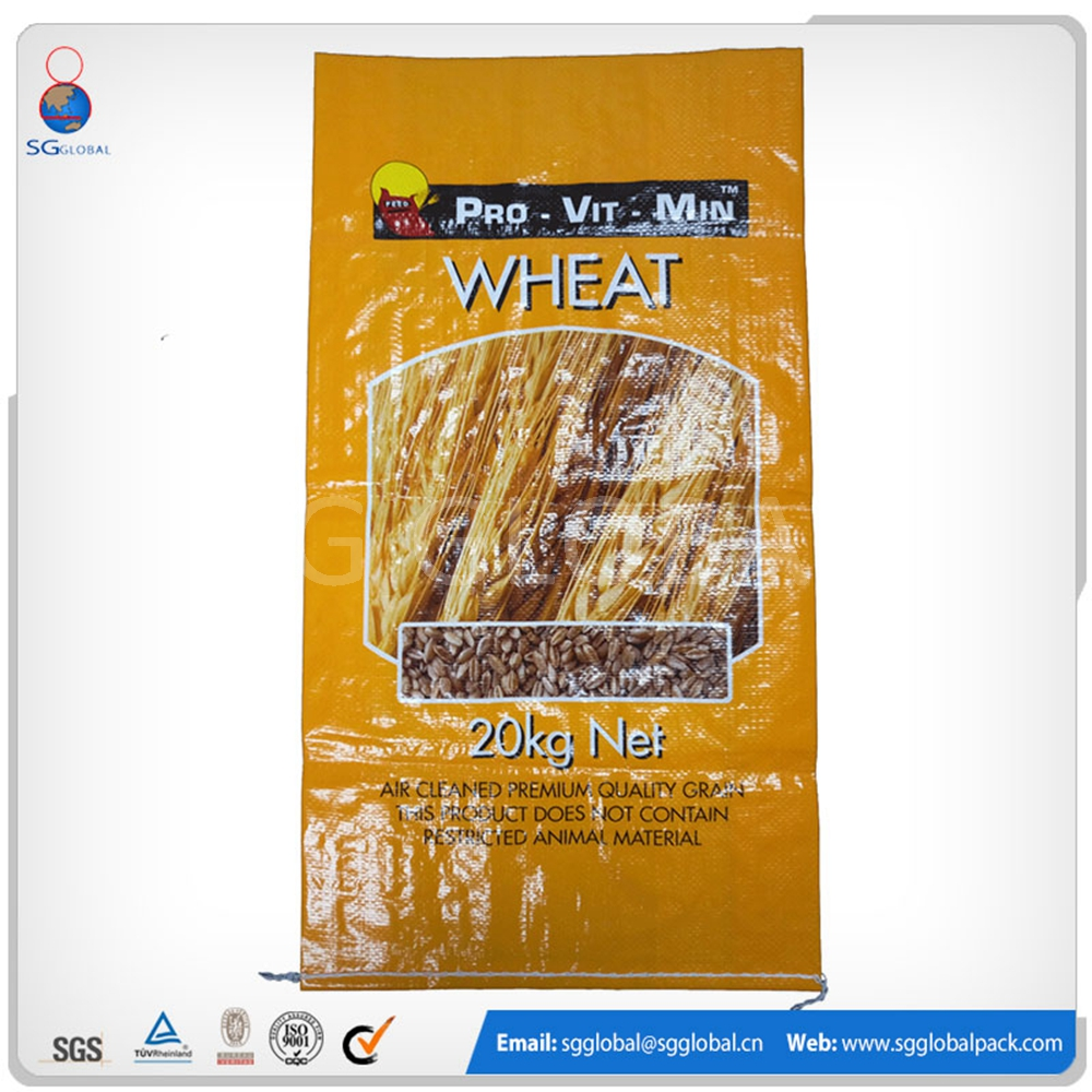 Alibaba China wholesale 50kg pp woven grain packaging plastic bags