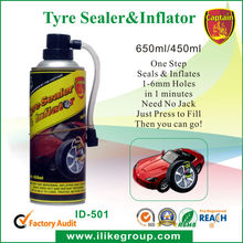 delasso sealant et inflator/ lash-up aerosol tire fixer and inflator manufacturer/ factory