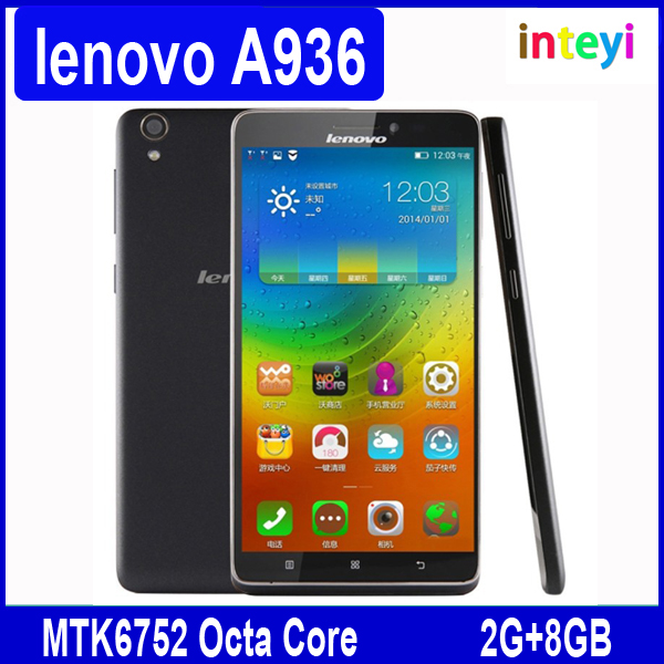 "Original lenovo A936 Note 8 Note8 4G LTE Mobile Phone 6.0"" 1280x720 HD Screen MTK6752 Octa Core 2GB RAM 8GB ROM 13MP Android 4.4"