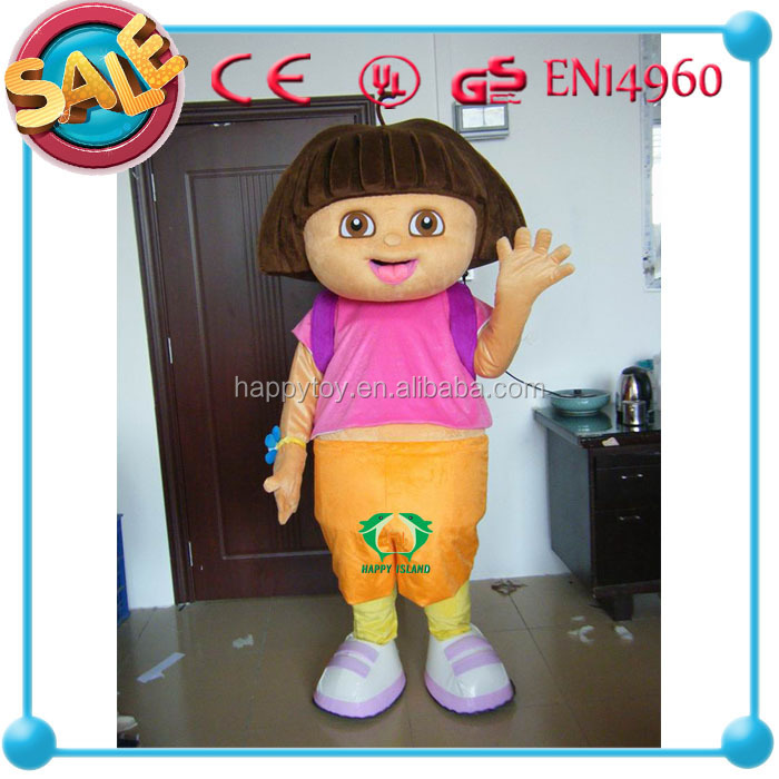 HI CE 2015 High quality cartoon dora mascot, dora costume